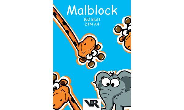 VIKTOR RICHTER Malblock, DIN A4, 70 g/qm, 100 Blatt