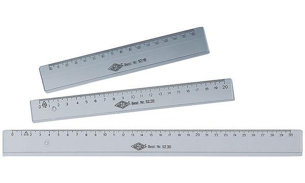 WEDO Lineal, 160 mm, aus Kunststoff, transparent