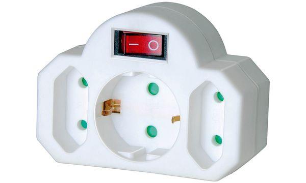 brennenstuhl Adapterstecker, 2 Euro-, 1 Schutzkontaktste...