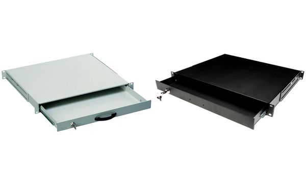 DIGITUS 19 Tastaturschublade, 1 HE, schwarz (RAL9005)