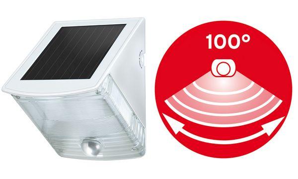 brennenstuhl Solar LED-Außenleuchte SOL 4 plus IP44, weiß