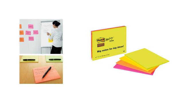 #4xPost-it Meeting Notes Super Sticky, 152 x 101 mm, 4-f...