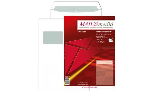 MAILmedia Versandtasche Offset weiß, C5, mit Fenster