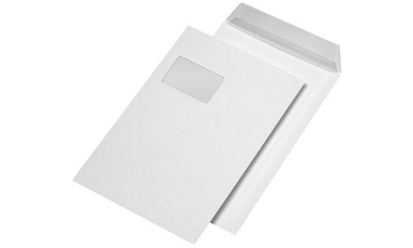 MAILmedia Versandtasche C4 haftklebend, mit Fenster, braun
