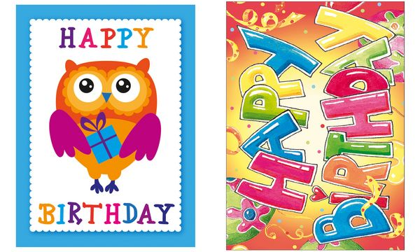 SUSY CARD Minikarte - Geburtstag Happy Birthday