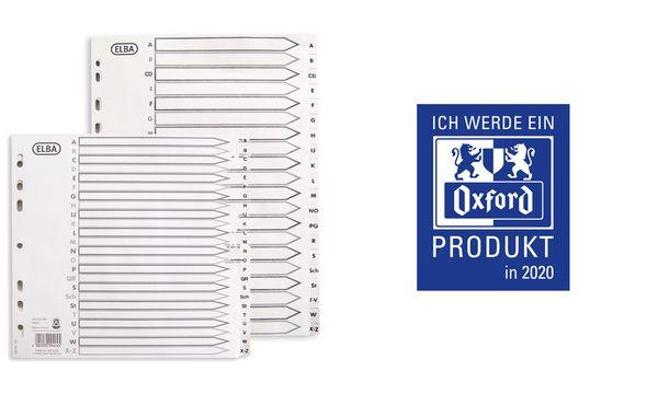 Oxford Tauenpapier-Register, A-Z, DIN A4, 24-teilig, teild.