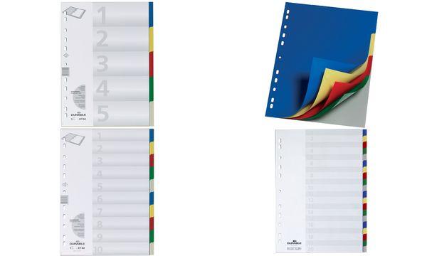 DURABLE Kunststoff-Register, A4, PP, 20-teilig