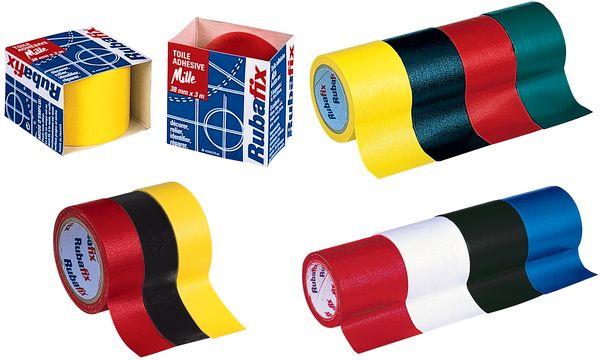 Rubafix Gewebeband, Maße: (B)19 mm x (L)3 m, schwarz