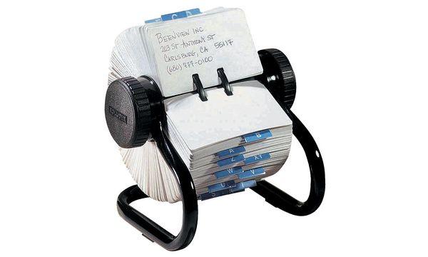 Rolodex Rollkartei Classic, schwarz