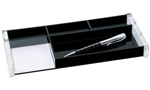 WEDO Stifteschale acryl exklusiv, 5 Fächer, glasklar/