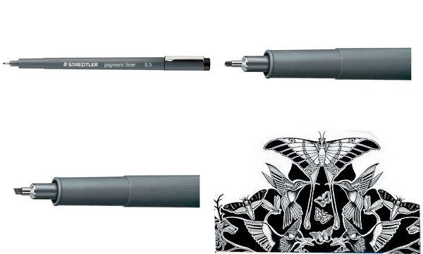 STAEDTLER Pigmentliner, schwarz, Strichstärke: 0,3 mm