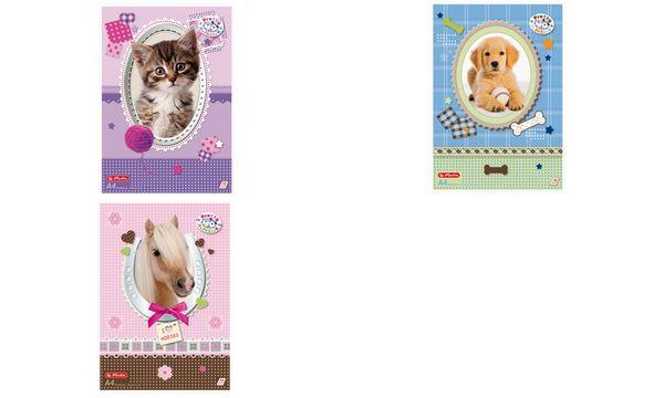 herlitz Malblock Pretty Pets DIN A4, 70 g/qm, 75 Blatt