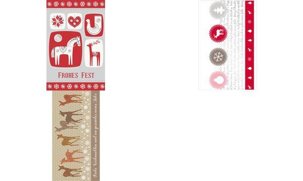 SUSY CARD Weihnachtskarte Glamour Kugeln