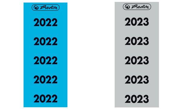 herlitz Ordner-Inhaltsschild Jahreszahl 2020, rot
