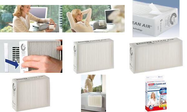 tesa Feinstaubfilter CLEAN AIR, Größe L, Maße: 140 x 1...