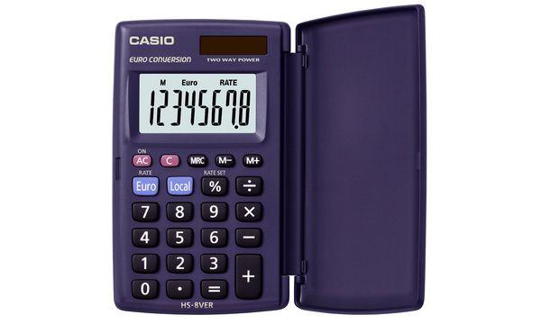 CASIO Taschenrechner HS-8 VER, Solar-/ Batteriebetrieb