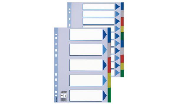 Esselte Kunststoff-Register, blanko, A4, PP, 10-teilig