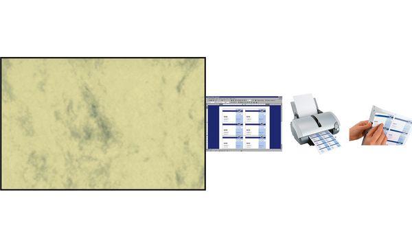 sigel Visitenkarten 3C, 85 x 55 mm, 225 g/qm, Marmor grau