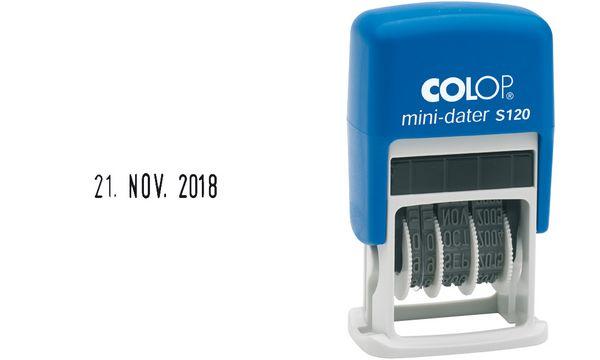 COLOP Datumstempel Mini Dater S120, Monate in Buchstaben...
