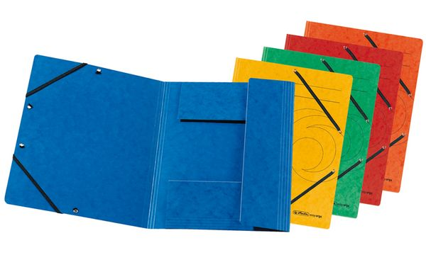 #10xherlitz Eckspannermappe easyorga, DIN A4, farbig sor...