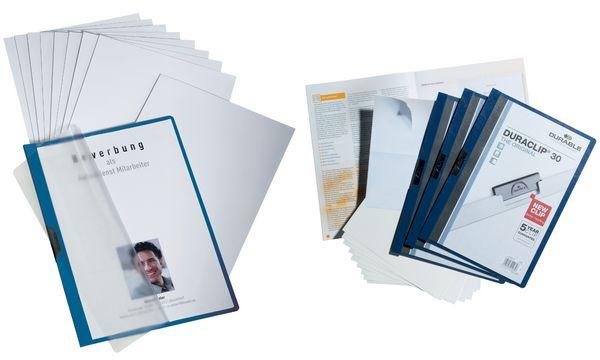DURABLE Bewerbungs-System Profi, DIN A4, aus Hart-PVC, blau