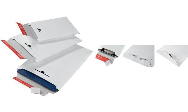 #20xColomPac Versandtasche, aus weißer Vollpappe, DIN B5+