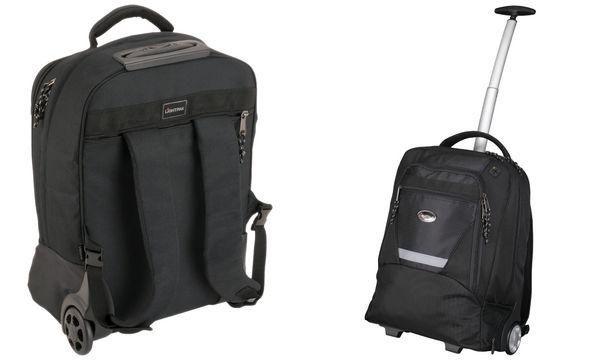 LiGHTPAK Rucksack-Trolley MASTER, mit Laptopfach, schwarz