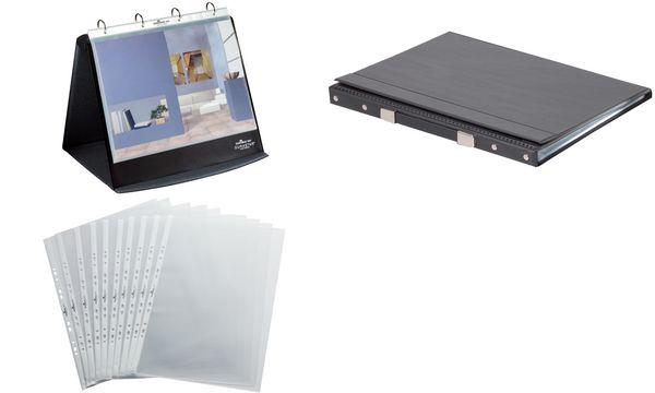 DURABLE Klarsichthüllen für Tisch-Flipchart, A3 quer