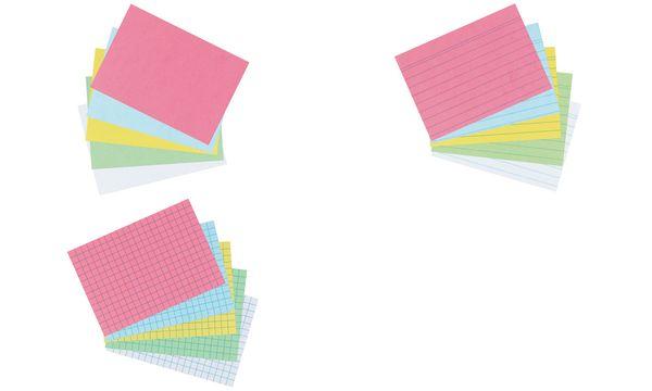 herlitz Karteikarten, DIN A7, liniert, weiß