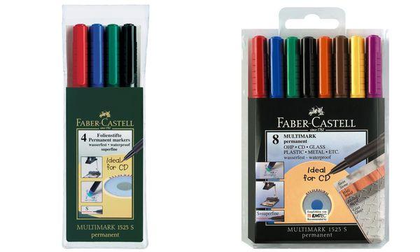 FABER-CASTELL Permanent-Marker MULTIMARK S, 4er Etui