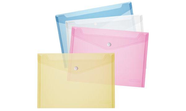 #6xherlitz Dokumententasche, DIN A5, PP, blau/transparent