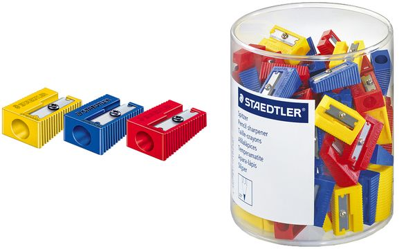 #100xSTAEDTLER Spitzer, aus Kunststoff, 100er Dose
