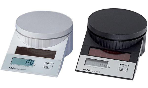 MAULtronic S Solar Briefwaage, Tragkraft:2 kg, schwarz