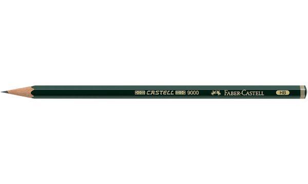 FABER-CASTELL Bleistift CASTELL 9000, Härtegrad: 7B
