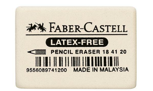 FABER-CASTELL Kautschuk-Radierer 7041-20, weiß