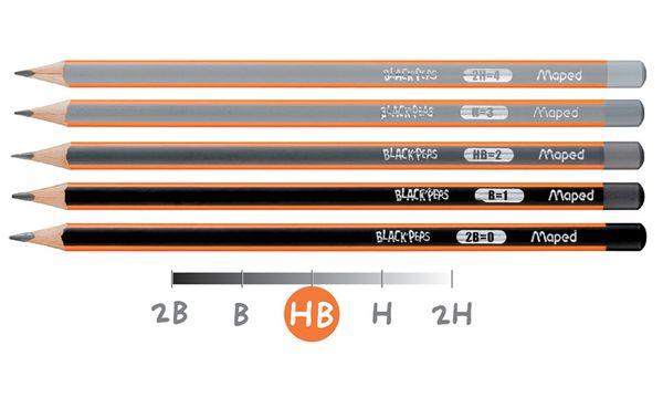 #12xMaped Bleistift BLACKPEPS, Härtegrad: B