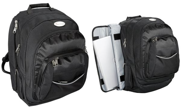 LiGHTPAK Notebook-Business-Rucksack ADVANTAGE, schwarz