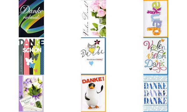 HORN Danksagungskarte - Patchwork - inkl. Umschlag