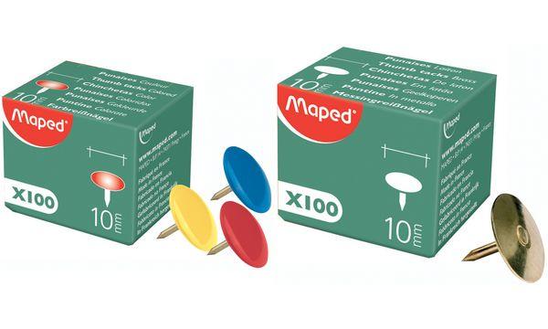 Maped Reißnagel, verkupfert, Durchmesser: 10 mm