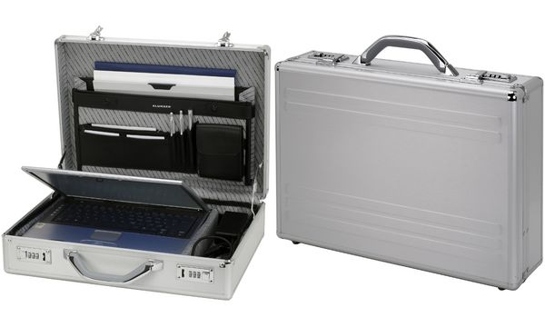 ALUMAXX Laptop-Attaché-Koffer KRONOS, Aluminium, silber