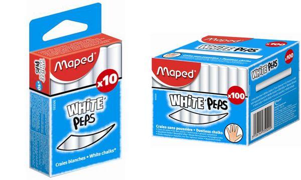 Maped Wandtafelkreide WHITEPEPS, rund, weiß