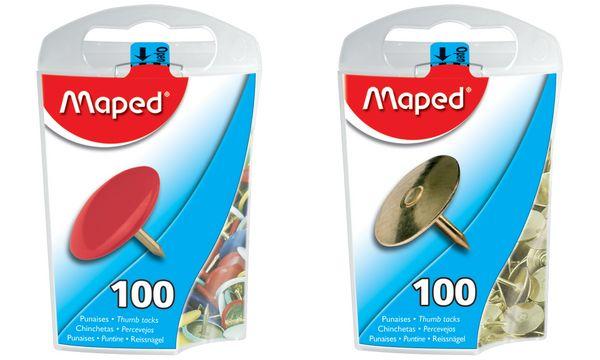 Maped Reißnägel, verkupfert, Durchmesser: 10 mm