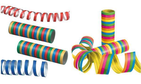SUSY CARD Luftschlangen, aus Papier, 5 Farben