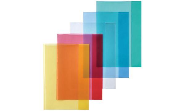 #25xherlitz Heftschoner DIN A4, PP, transparent-blau