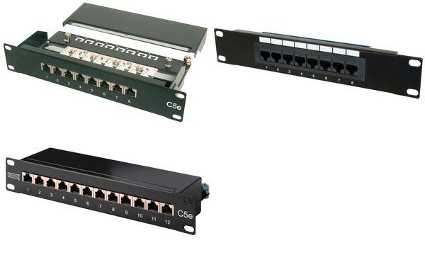 DIGITUS 10 Patch Panel Kat.5e, Klasse D, 12 x RJ45, 1 HE
