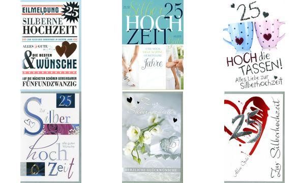 HORN Hochzeitskarte - Silberhochzeit - Moderne Schrift-