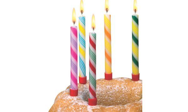SUSY CARD Geburtstagskerzen Zuckerstange, aus Wachs, g...