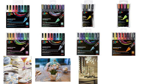 POSCA Pigmentmarker PC-5M, 8er Box, Standard