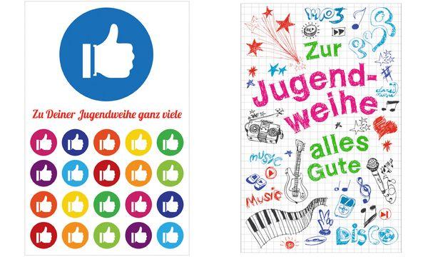 SUSY CARD Jugendweihe-Grußkarte Gekritzeltes