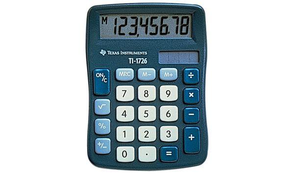 TEXAS INSTRUMENTS Tischrechner TI-1726, Solarbetrieb